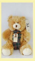 Evans Bevan Welsh Tartan Friendly Teddy Bear And Scarf Soft Toy
