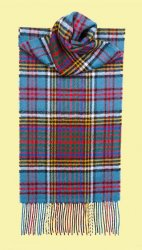 Anderson Modern Clan Tartan Lambswool Unisex Fringed Scarf