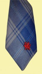 Edwards Welsh Tartan Worsted Wool Straight Mens Neck Tie