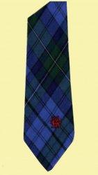 Ellis Bellis Welsh Tartan Worsted Wool Straight Mens Neck Tie