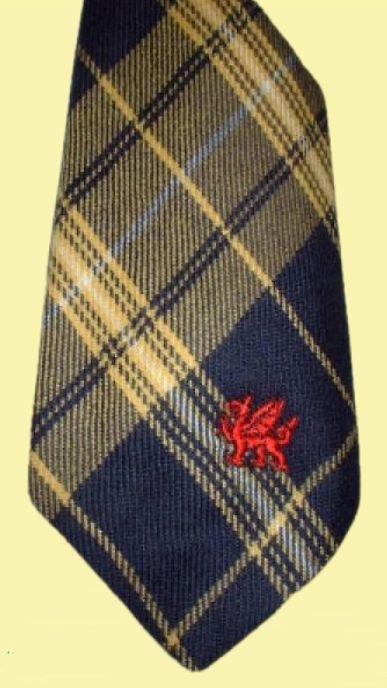 Image 0 of Morris Welsh Tartan Worsted Wool Straight Mens Neck Tie