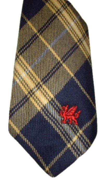 Image 1 of Morris Welsh Tartan Worsted Wool Straight Mens Neck Tie