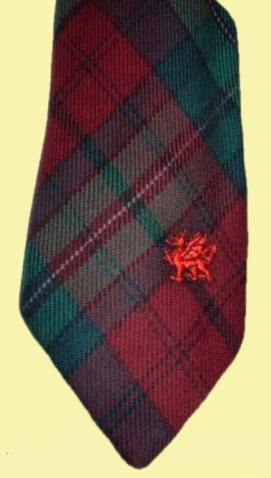 Image 0 of Pope Welsh Tartan Worsted Wool Straight Mens Neck Tie