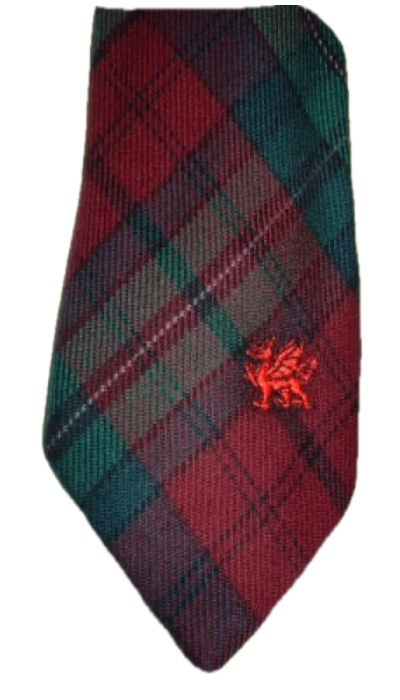 Image 1 of Pope Welsh Tartan Worsted Wool Straight Mens Neck Tie