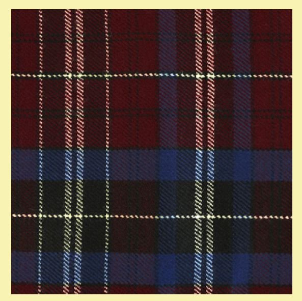 Image 0 of Gwyn Wynne Welsh Tartan Worsted Wool Unisex Fringed Scarf