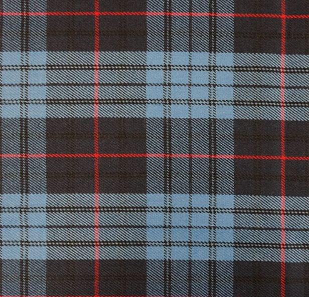 Image 3 of Roberts Probert Welsh Tartan Worsted Wool Unisex Fringed Scarf