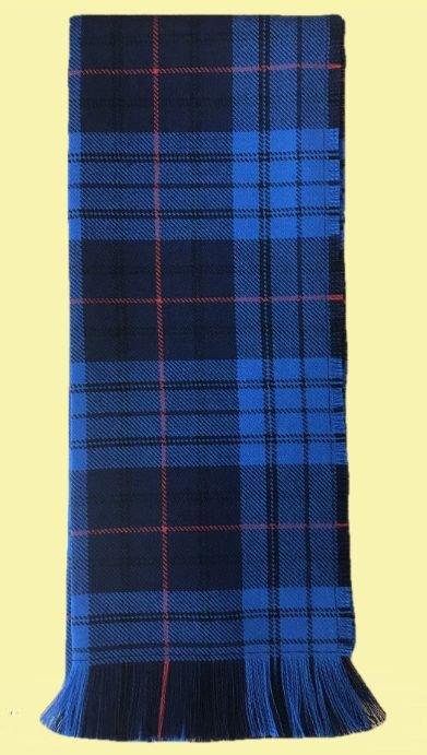 Image 0 of Roberts Probert Welsh Tartan Worsted Wool Unisex Fringed Scarf