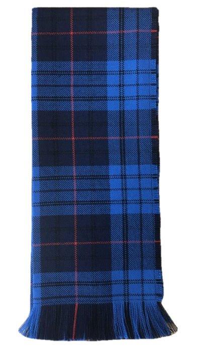 Image 1 of Roberts Probert Welsh Tartan Worsted Wool Unisex Fringed Scarf