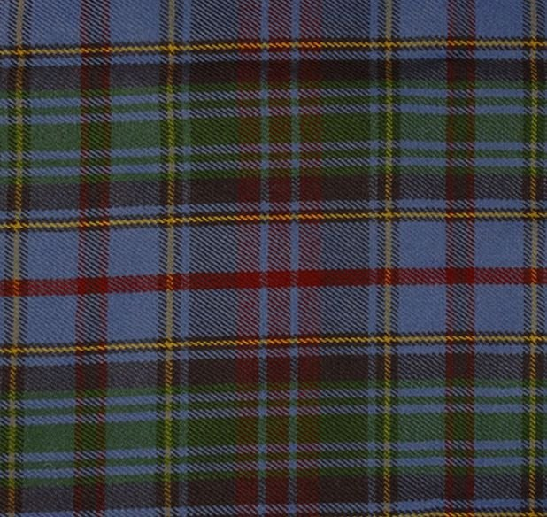 Image 1 of County Of Powys Welsh Tartan Worsted Wool Unisex Fringed Scarf