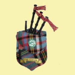 Anderson Clan Tartan Musical Bagpipe Fridge Magnets Set of 2