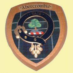 Abercrombie Clan Crest Tartan 7 x 8 Woodcarver Wooden Wall Plaque
