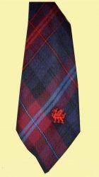 Evans Bevan Welsh Tartan Worsted Wool Straight Mens Neck Tie