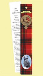 Bruce Clan Tartan Bruce History Bookmarks Set of 2