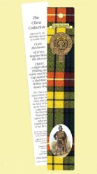 Buchanan Clan Tartan Buchanan History Bookmarks Set of 2