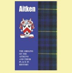 Aitken Coat Of Arms History Scottish Family Name Origins Mini Book