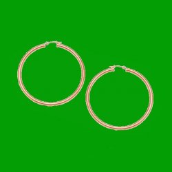 14K Rose Gold Classic 15mm Circle Hoop Earrings