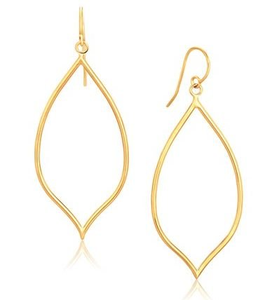 Image 1 of 14K Yellow Gold Marquise Polished Open Earrings