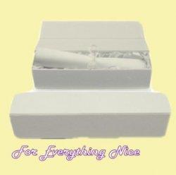 White Engraveable Stylish Pewter Plaque Certificate Keepsake Box