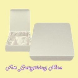 White Engraveable Stylish Pewter Plaque Large Keepsake Box