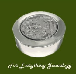 Stork My First Curl Motif Round Child Stylish Pewter Keepsake Box