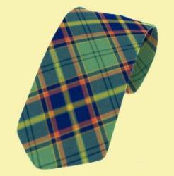 Antrim County Irish Tartan Straight Lightweight Wool Mens Neck Tie
