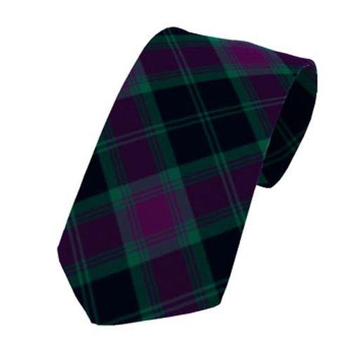 Image 1 of Carlow County Irish Tartan Straight Lightweight Wool Mens Neck Tie
