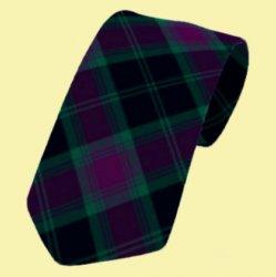Carlow County Irish Tartan Straight Lightweight Wool Mens Neck Tie