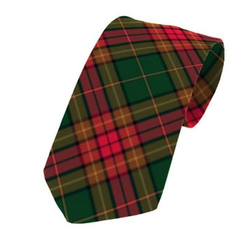 Image 1 of Cavan County Irish Tartan Straight Lightweight Wool Mens Neck Tie