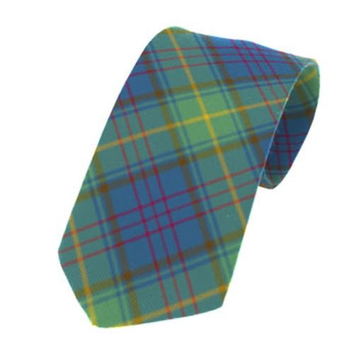 Image 1 of Donegal County Irish Tartan Straight Lightweight Wool Mens Neck Tie