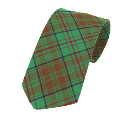 Image 1 of Dublin County Irish Tartan Straight Lightweight Wool Mens Neck Tie