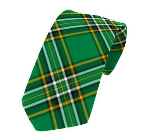 Image 1 of Irish National Tartan Straight Lightweight Wool Mens Neck Tie