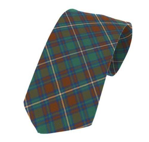 Image 1 of Kerry County Irish Tartan Straight Lightweight Wool Mens Neck Tie