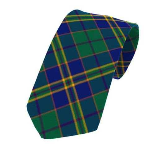 Image 1 of Kilkenny County Irish Tartan Straight Lightweight Wool Mens Neck Tie