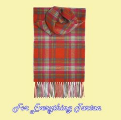 Appletreehall Check Tartan Lambswool Fringed Scarf