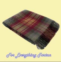 Auld Scotland Tartan Lambswool Blanket Throw