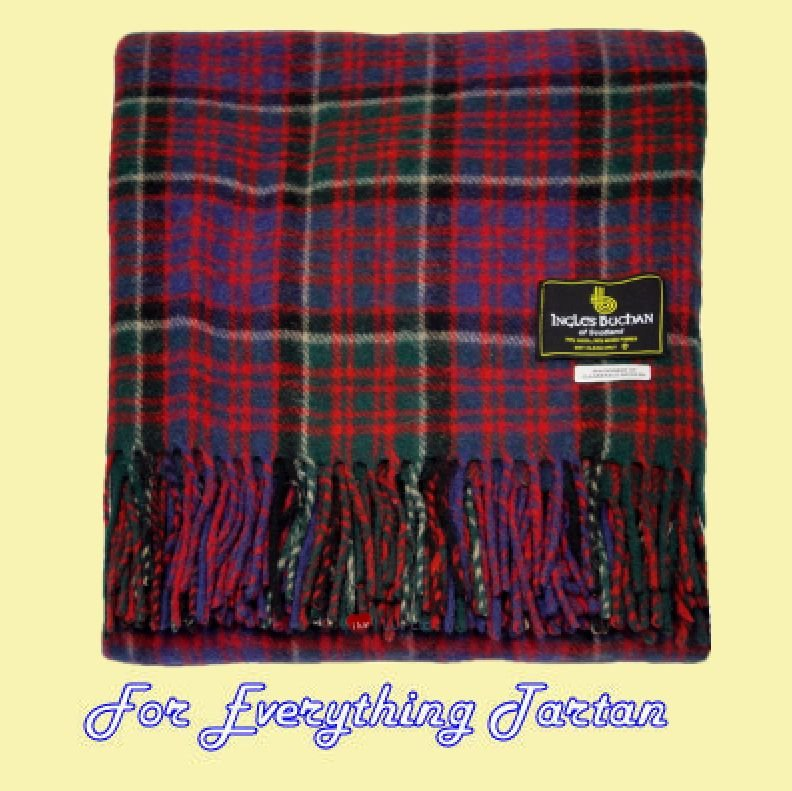 MacDonald Clanranald Modern Clan Tartan Lambswool Blanket Throw 661ad6ecc