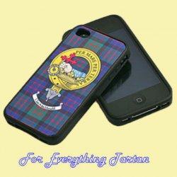 Clan Crest Tartan Badge Black iPhone 4 Cover Clan Badge Case