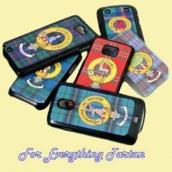 Clan Crest Tartan Badge Black HTC Desire Z Cover Clan Badge Cover