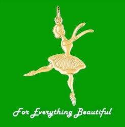 Ballerina Dance Satin Polished 14K Yellow Gold Pendant Charm