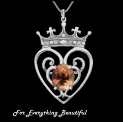 Queen Mary Design Topaz Luckenbooth Large Sterling Silver Pendant