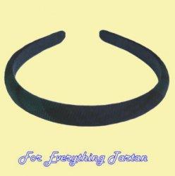 Black Watch Modern Tartan Lightweight Fabric Narrow Hair Band Headband