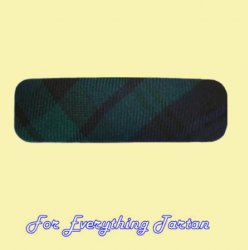 Black Watch Modern Tartan Lightweight Fabric Straight Bar Medium Hairclip