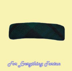Black Watch Modern Tartan Lightweight Fabric Straight Bar Small Hairclip