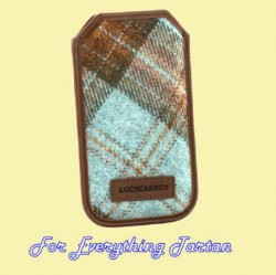 Ferniehirst Tweed Check Fabric Leather Mobile Phone Case Protector