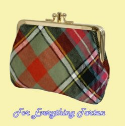 Bruce Of Kinnaird Ancient Tartan Fabric Framed Medium Ladies Double Purse