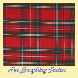 Royal Stewart Clan Tartan Polycotton Fabric Rectangular Tablecloth 70 inches x 1