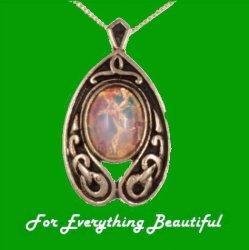 Celtic Serpent Nouveau Iona Antiqued Gold Plated Pendant