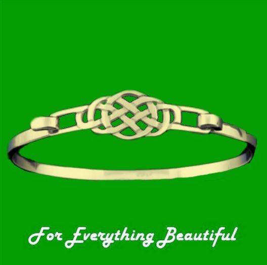 Image 0 of Celtic Knot Interlace Design 9K Yellow Gold Bangle