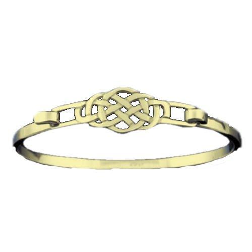 Image 1 of Celtic Knot Interlace Design 9K Yellow Gold Bangle