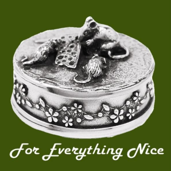 Image 0 of Bee Insect Themed Bronze Pendant And Pewter Decorative Trinket Box